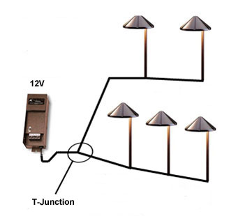 T-Junction Garden Lighting