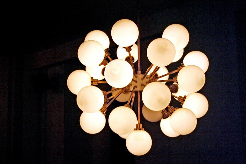 70s ball stylish lamp