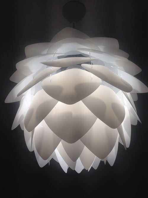 White light modern lamp