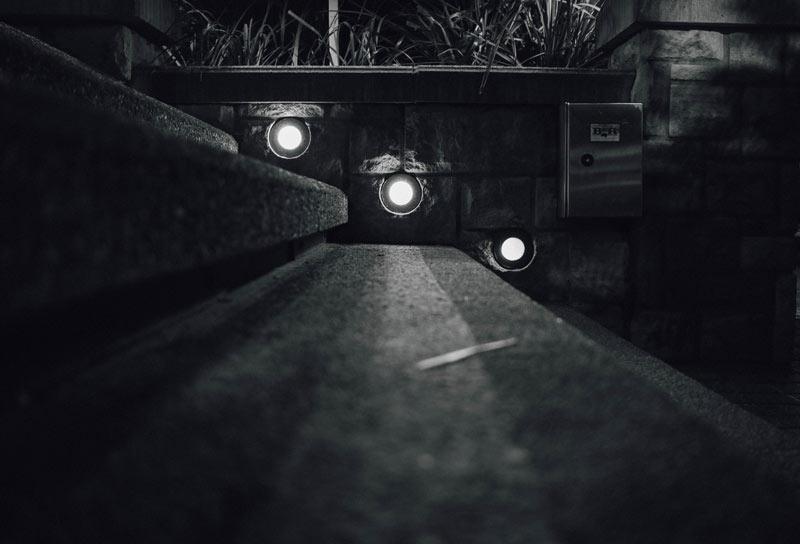 Dark night evening lights