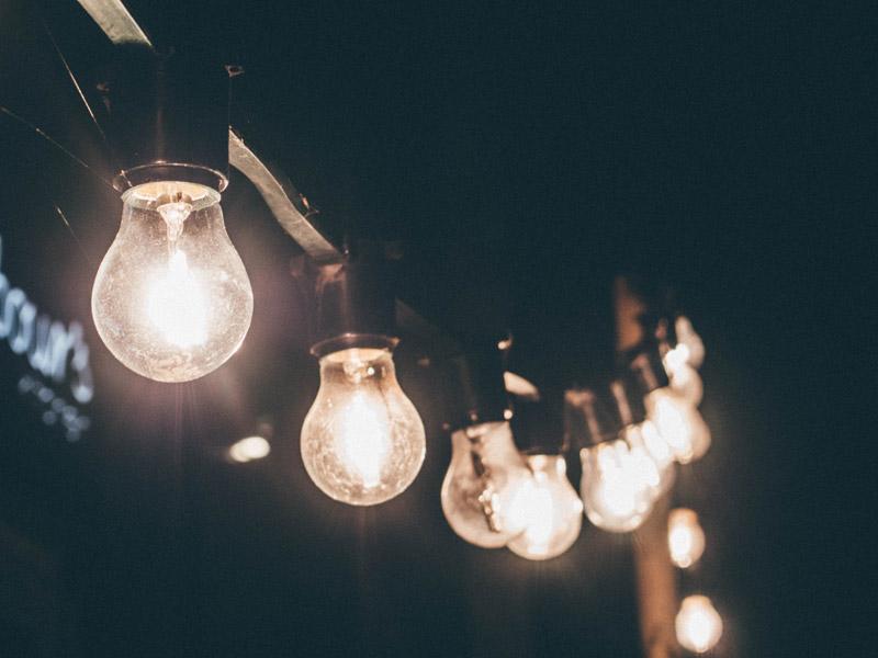 Bulbs light
