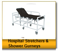 Hospital stretchers and Shower Gurneys