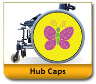 Wheelchair Hub Caps-Spoke Guards