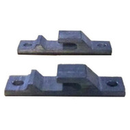 Roll-A-Ramp - Pickup, Or Any Flat Surface Tailgate Brackets (Pair) - Aluminum - 3415
