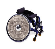 Wheelchair Hubcaps, Asian Silver HB6
