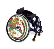 Wheelchair Hubcaps, Asian Rooster CH4