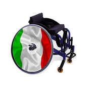 Wheelchair Hubcaps, FG5 - Flag Spoke Guard Art - Italian Flag