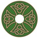 Wheelchair Hubcaps, GM8 - Geometric Spoke Guard Art - Celtic Knot