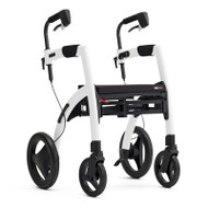 Rollz Motion2 - Rollator and Transport Chair in One -  Pebble White - from side