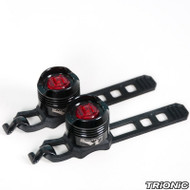 Trionic, Veloped LED safety lights/ pair, Red-black