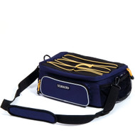 Trionic, Veloped Shoulder Bag Trek Navy-Black-Yellow