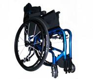 Colours VERVE Folding Wheelchair, folded
