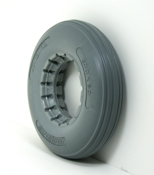 8X2 Urethane Rib Tire Fits Most 2-Piece Wheels