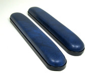 Dark Blue Vinyl Full Length Padded Armrests Pair, Universal Fit