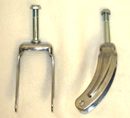 "8"" Chrome Caster Fork Fits E&J"