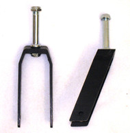 "7"" Black Alum. Caster Fork 3 Axle Position"
