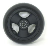 Pair, 5X1 1/2 Caster Wheels With Hollow Spokes and Bearings