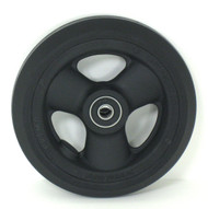 Pair, 5X1 Caster Wheels With Hollow Spokes and Bearings