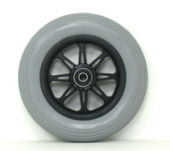 Pair, 6X1 1/4  JAZZY Front Caster Wheels With SHOX tires and Bearings