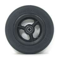 Pair, 6X1 1/4  Caster Wheels With Round Profile Urethane tires and Bearings