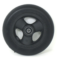 Pair, 6X1 1/4  Caster Wheels With Hollow Spokes,Urethane tires and Bearings