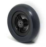 Pair, 6X1 1/2  Caster Wheels With Round Profile Urethane tires and Bearings