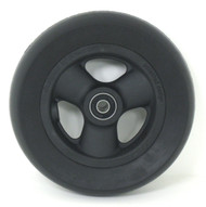 Pair, 6X1 1/2 Caster Wheels With Hollow Spokes, Urethane tires and Bearings