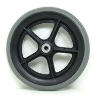 Pair, 8X1 Caster Wheels Solid tires and Bearings