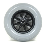 Pair, 8X2 Caster Wheels With molded-on Tires and B12 Bearings