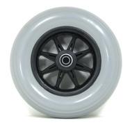 Pair, 8X2 Caster Wheels With Molded-on Tires and B20 Bearings