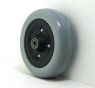 Pair, 6X2 Caster Wheels With Urethane Tires and B20 Bearings