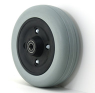 Pair, 6X2 Caster Wheels With Urethane Tires and 5/8 & 7/16 Bearings
