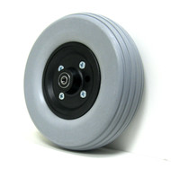 Pair, 8X2 1/2 Caster Wheels With Urethane Tires and B10 Bearings