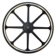 "New Solutions Wheelchair Parts - Pair, 24x1 Wheels - RW191P - 7/16"" sxle size"