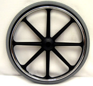 "22x1 3/8"" Mag Wheel (8 spoke). Rear wheels with valve holes"