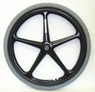 """24x1 3/8 (7/16"""" Axle) Black 5 Spoke X-Core rear wheel w/ narrow hub (2.0"""")"""