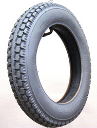 Pair, 12.5x2.25 Knobby Grey Rubber Tire