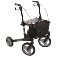 TOPRO TROJA Olympos-Medium, Dark Grey - WITH BACKREST- Rollator Walker # 814300