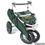 "Trionic Veloped Jakt Hunter 14"" tires - Walker Rollator - Medium 14"" tires- Green Size M"