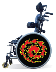 Wheelchair Spoke Guard Covers-Flames