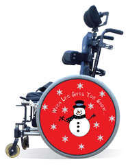 Wheelchair Spoke Guard Covers-Snowman