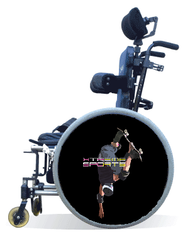Wheelchair Spoke Guard Covers - Skateboard