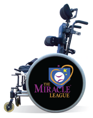 Wheelchair Spoke Guard Covers-Miracle League Black