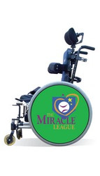 Wheelchair Spoke Guard Covers - Miracle League Green