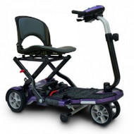 EV Rider - TranSport Plus - S19 Plum - 4 Wheel portable folding Electric Mobility Scooter
