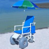 Healthline - All Terrain PVC Chair - Beach Wheelchair W/5 Pos. Recline - ROLLEEZ-RECLINE