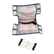 "Pool Lift Sling Assy w/Bars, Standard w/rigid insert & seat belt (38""L X 20""W)"