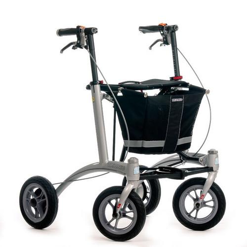 """Trionic  Rollator Walker 9er- 9"""" tires- Black/ Grey"""