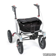 "Veloped Rollator Walker 12er- 12"" tires- Black/ Grey"
