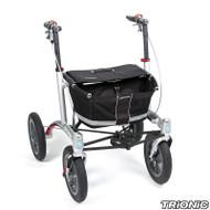 """Veloped Rollator Walker 12er- 12"""" tires- Black/ Grey"""